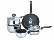 BUCKINGHAM INDUCTION STAINLESS STEEL FIVE PIECE COOKWARE  SET